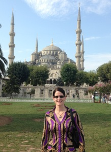 Laura DeNardis and Blue Mosque in Istanbul